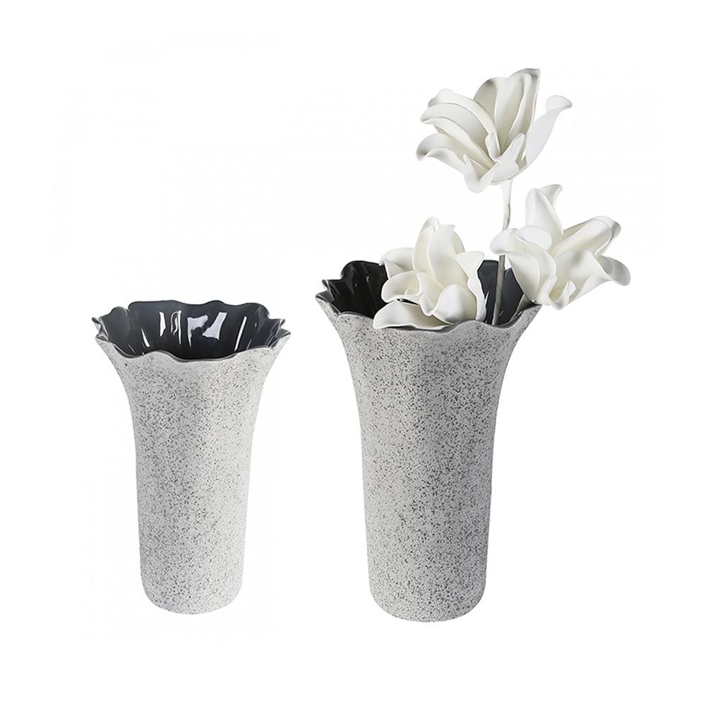Keramická váza Welle, 24 cm, šedá