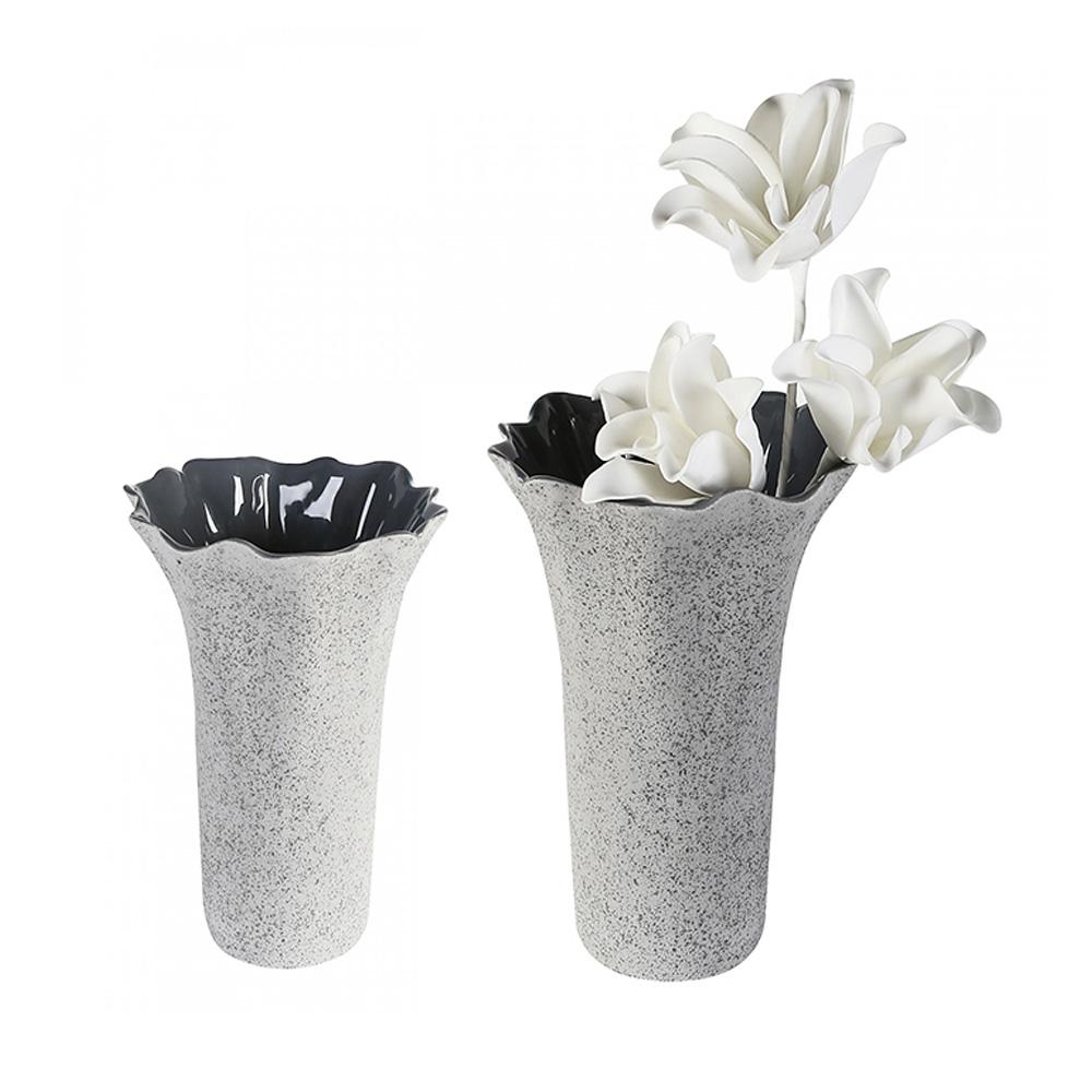 Keramická váza Welle, 31 cm, šedá