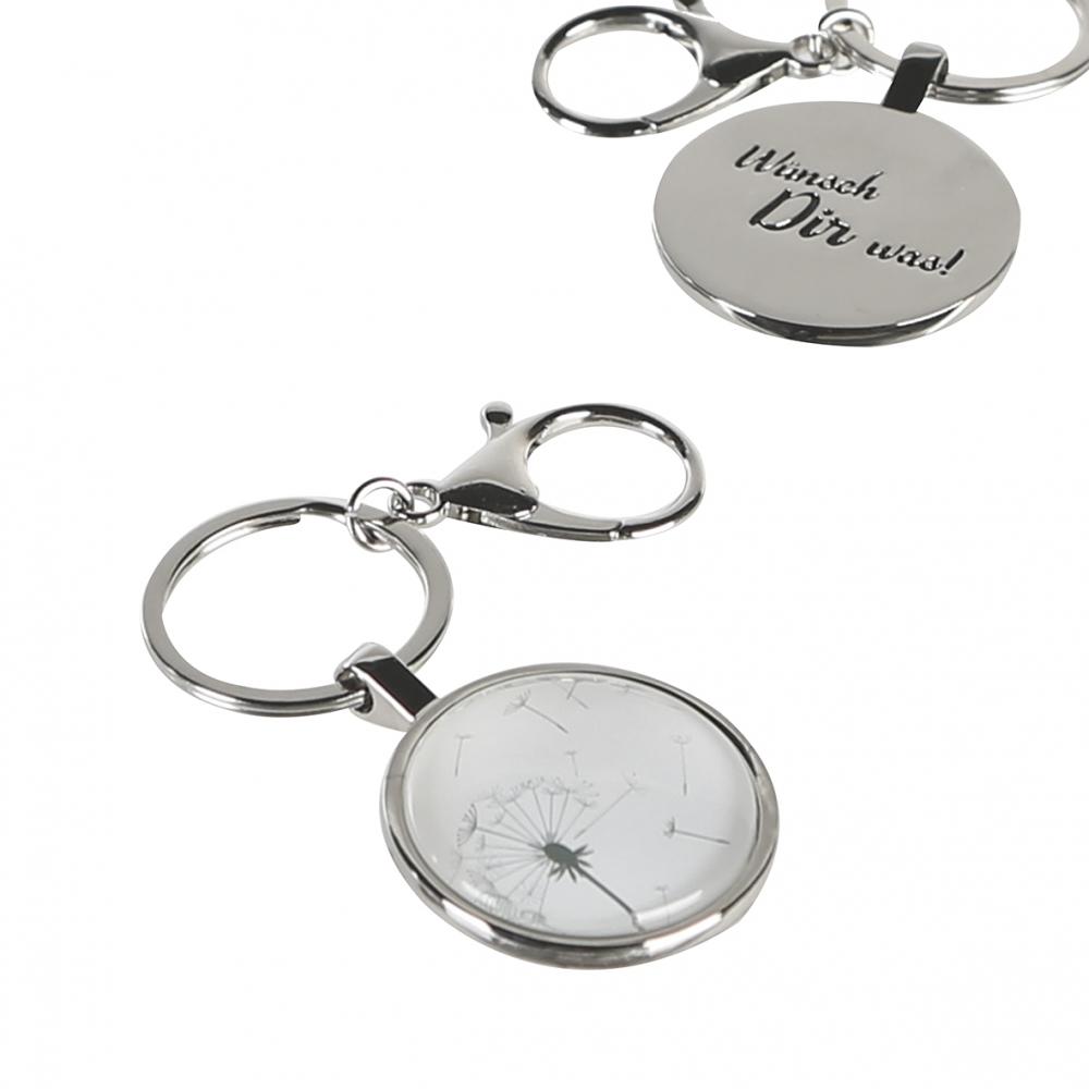 Klíčenka Dande, 8 cm, stříbrná