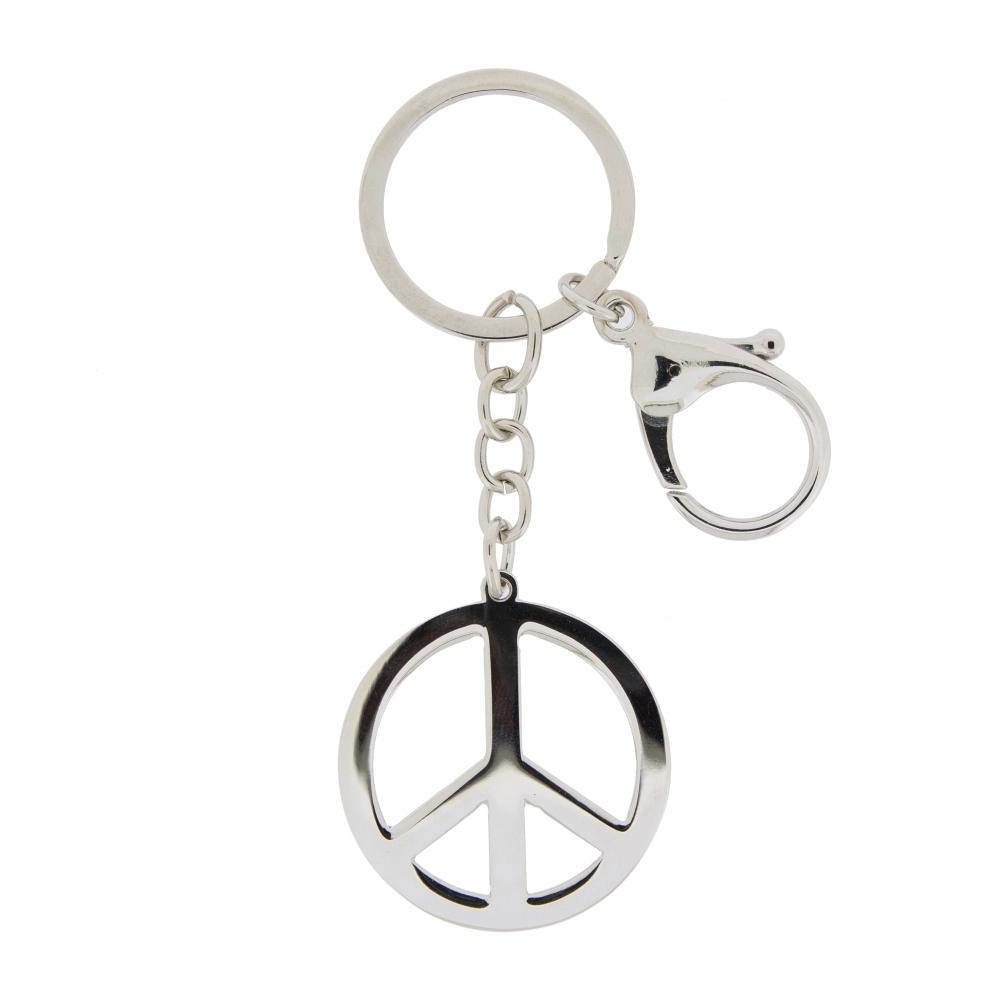 Klíčenka Peace, 10 cm, stříbrná