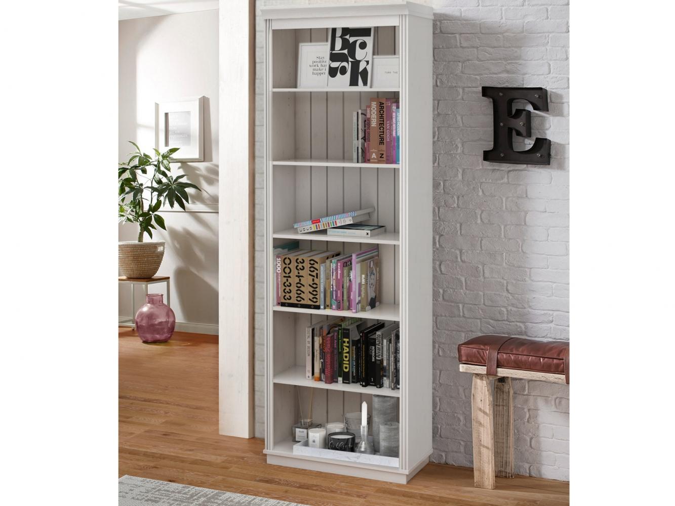 Knihovna Anat, 219 cm, bílá