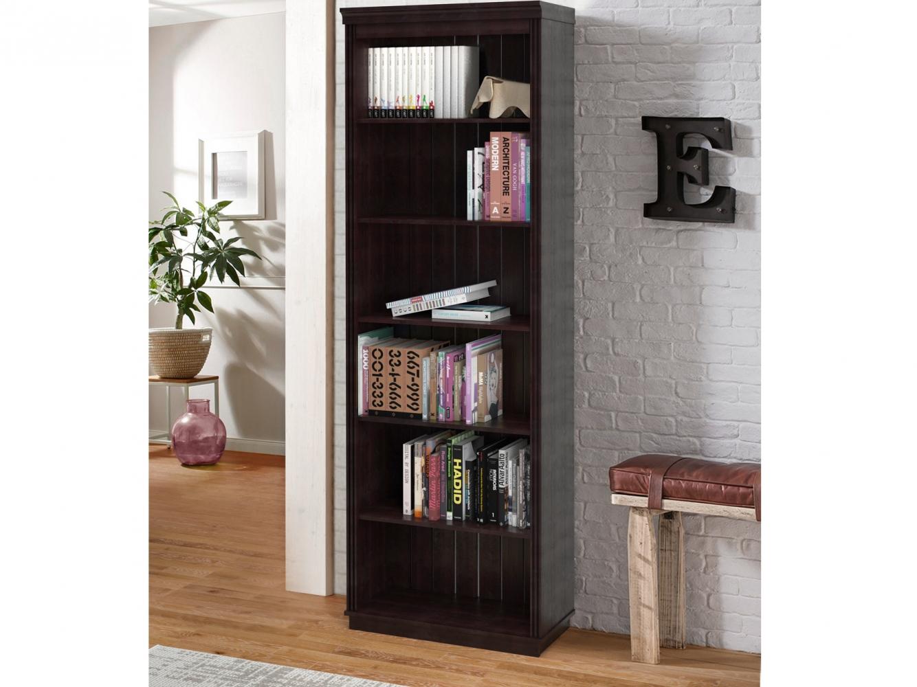Knihovna Anat, 219 cm, černá