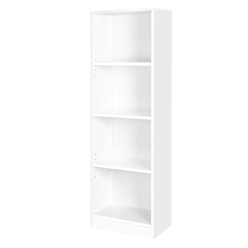 Knihovna Haidy, 121 cm, bílá