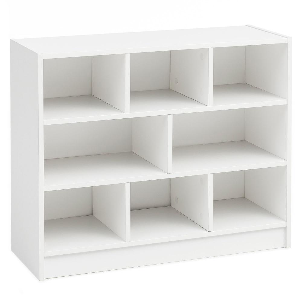 Knihovna Inas, 80 cm, bílá
