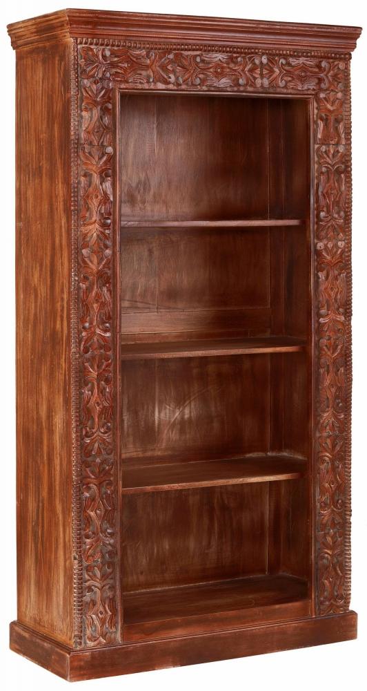 Knihovna Laki, 180 cm, hnědá