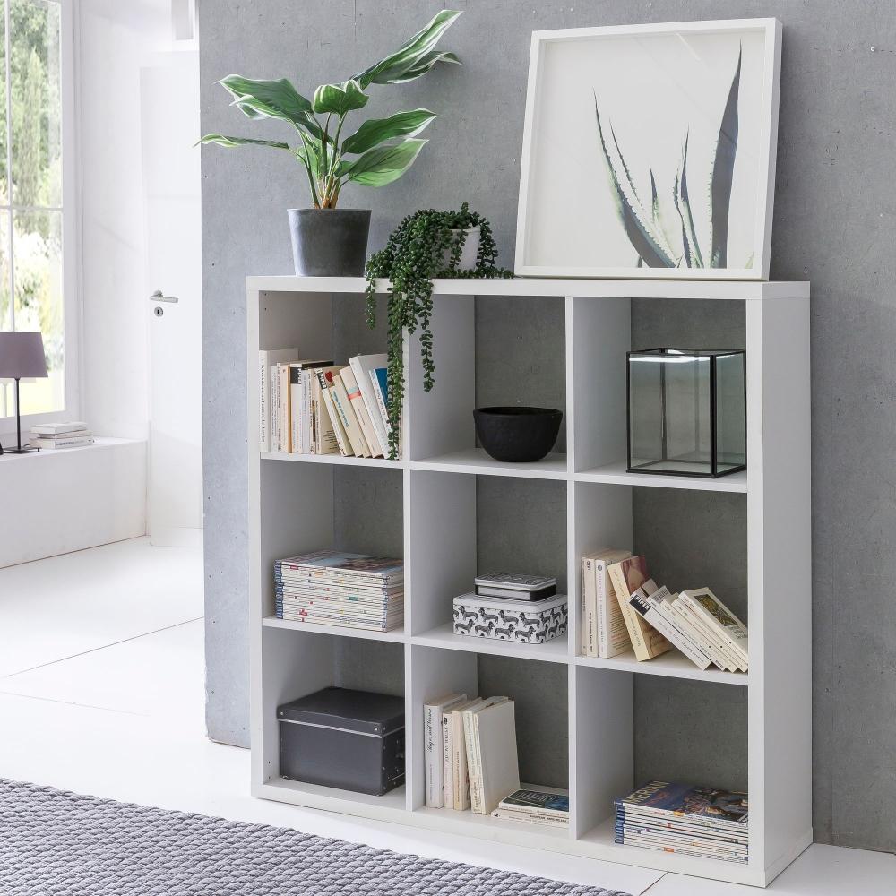 Knihovna / regál Fatos, 112 cm, bílá