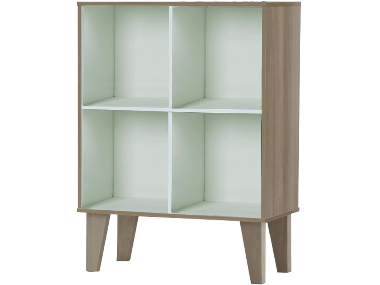 Knihovna Royal, 81 cm, bílá / bříza
