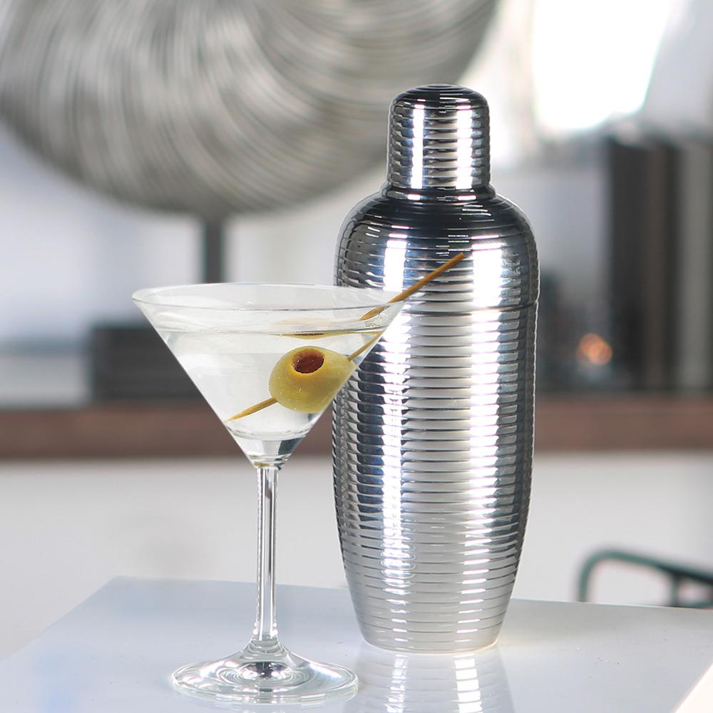 Koktejl shaker nerezový Galano, 22 cm