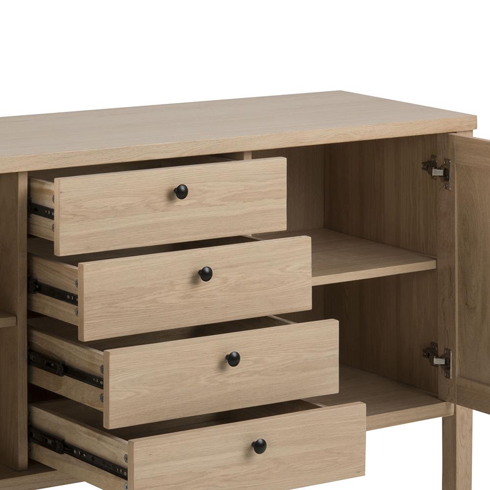 Kombinovaná skříň Beata, 160 cm, dub