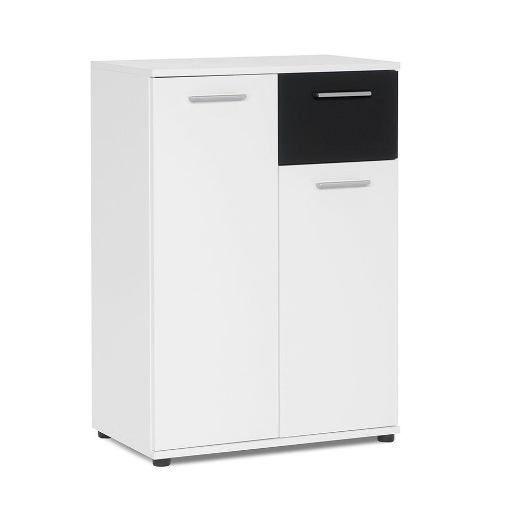 Kombinovaná skříň Emelie, 60 cm, bílá/černá