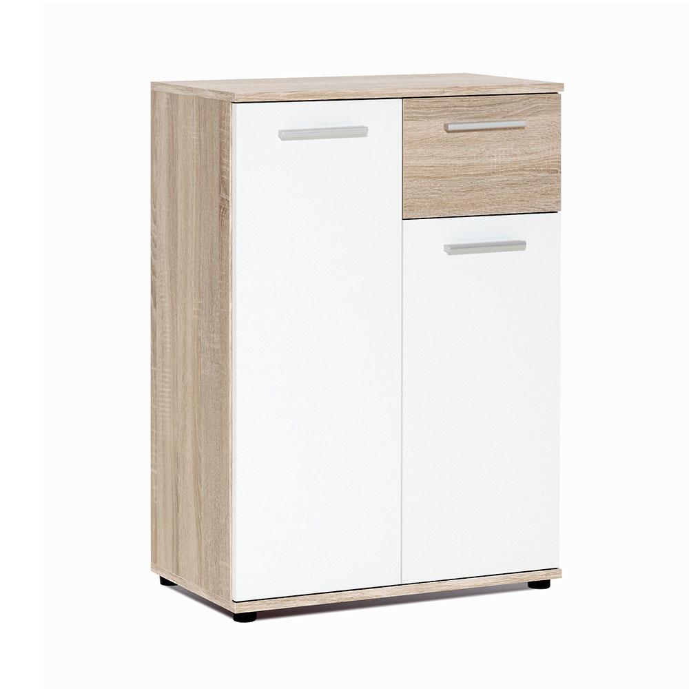Kombinovaná skříň Emelie, 60 cm, dub/bílá