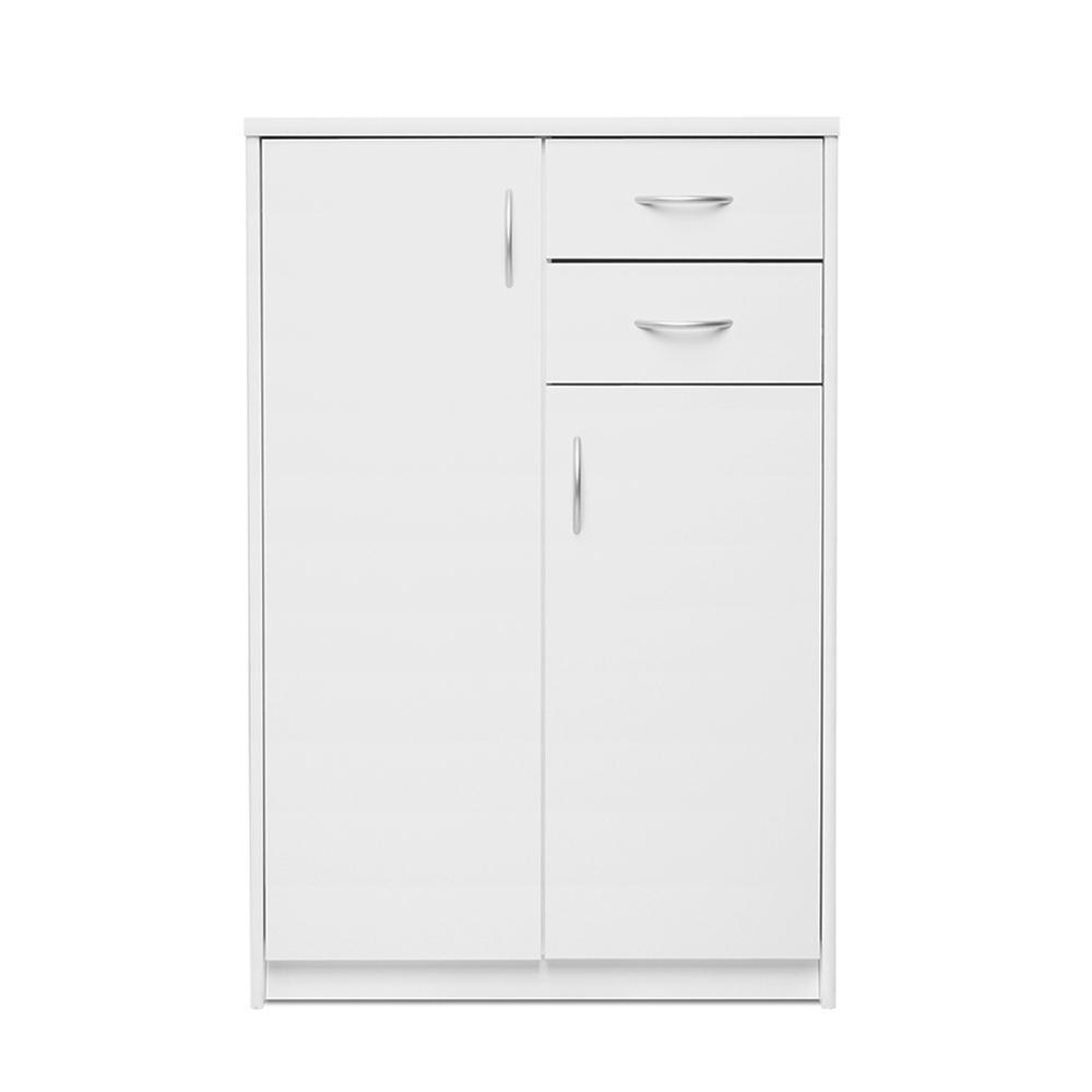 Kombinovaná skříň Haven, 111x74 cm, bílá