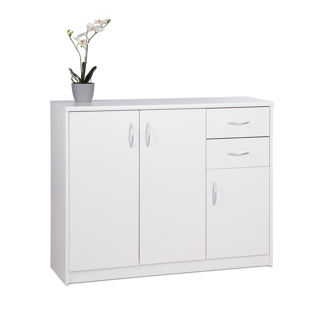Kombinovaná skříň Haven, 85x109 cm, bílá