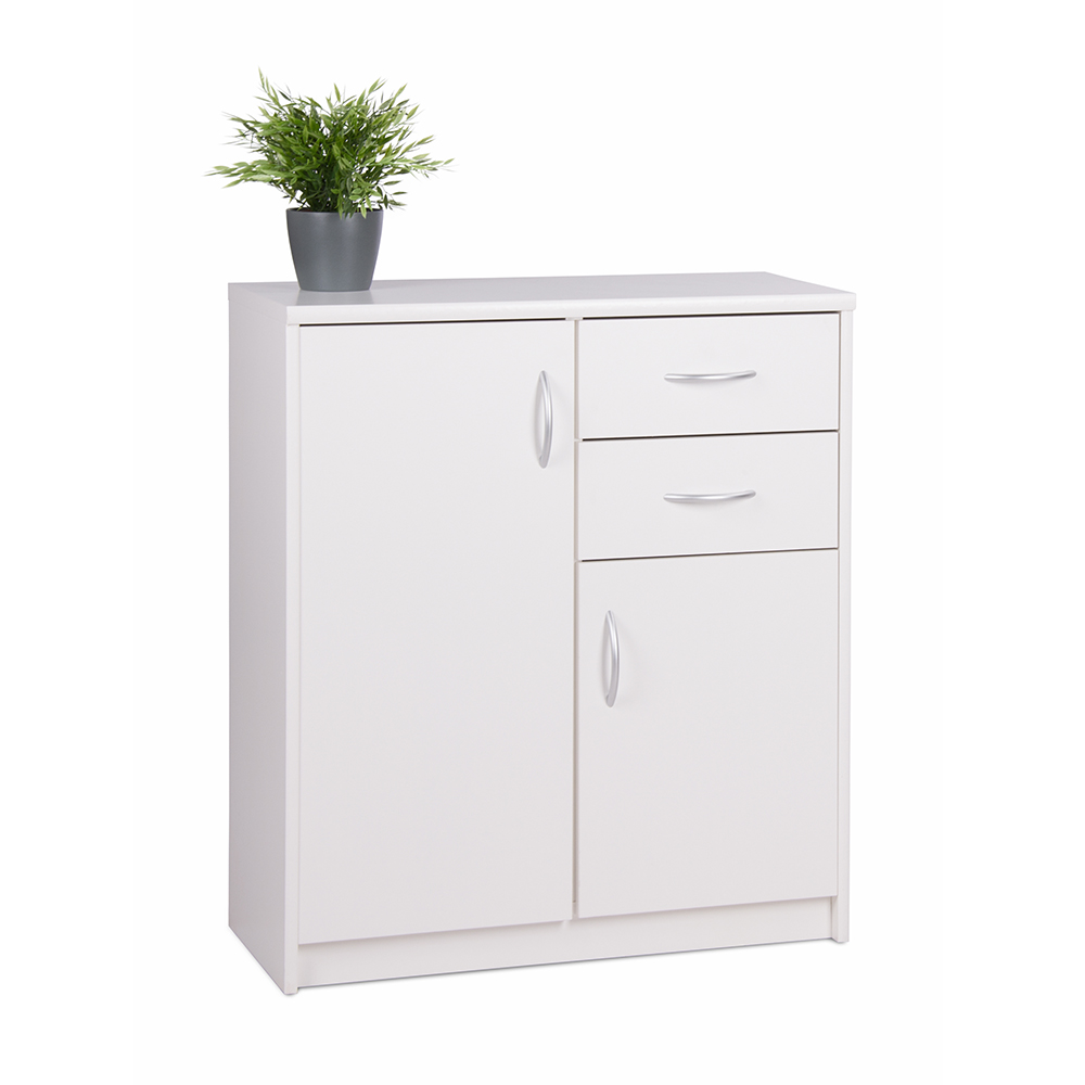 Kombinovaná skříň Haven, 85x74 cm, bílá