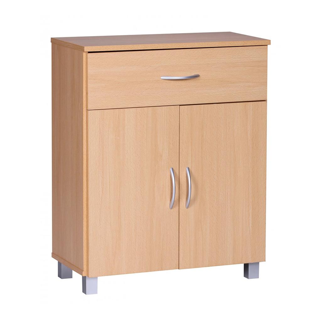 Kombinovaná skříň Jarry, 60 cm, buk
