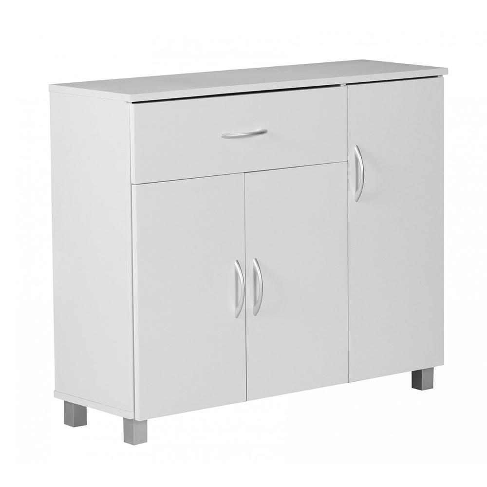 Kombinovaná skříň Jarry, 90 cm, bílá