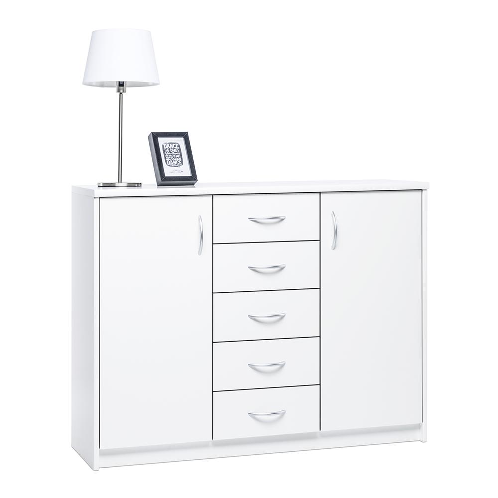 Kombinovaná skříň / komoda Haven, 85x109 cm, bílá