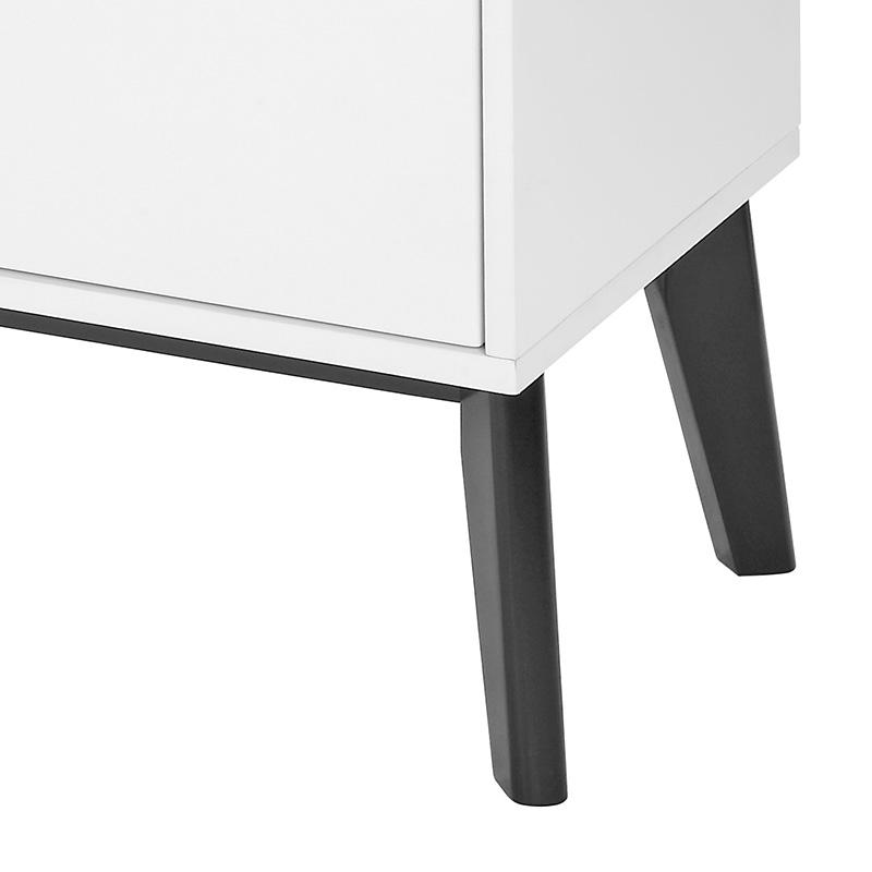 Kombinovaná skříň / komoda Milenium, 180 cm, bílá/černá