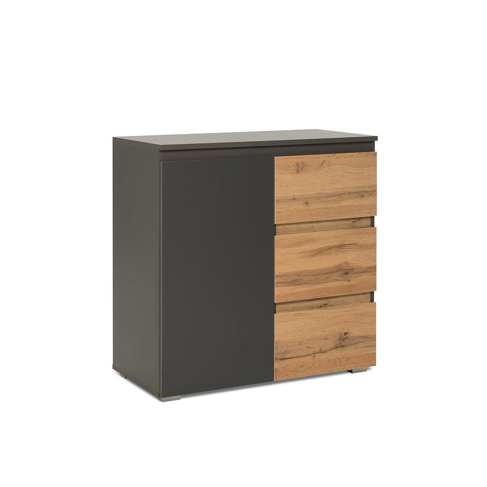 Kombinovaná skříň / komoda Picture, 80 cm, antracit/dub