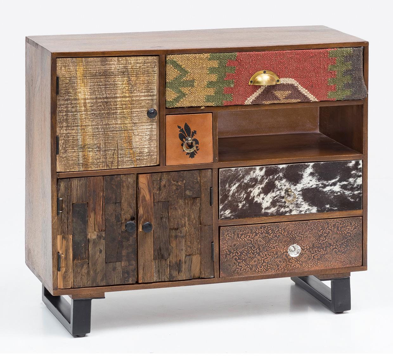 Kombinovaná skříň Patna, 90 cm, mangové dřevo