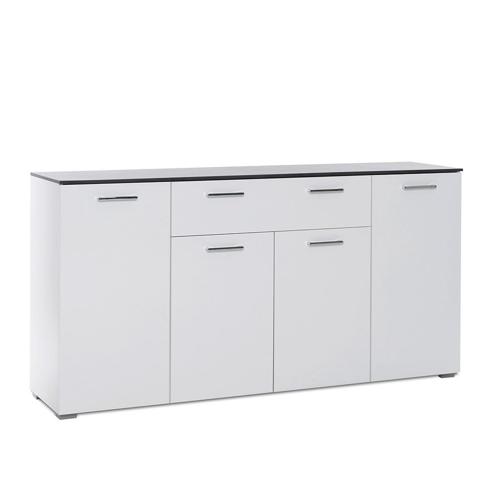 Kombinovaná skříň Perform, 160 cm, bílá/beton