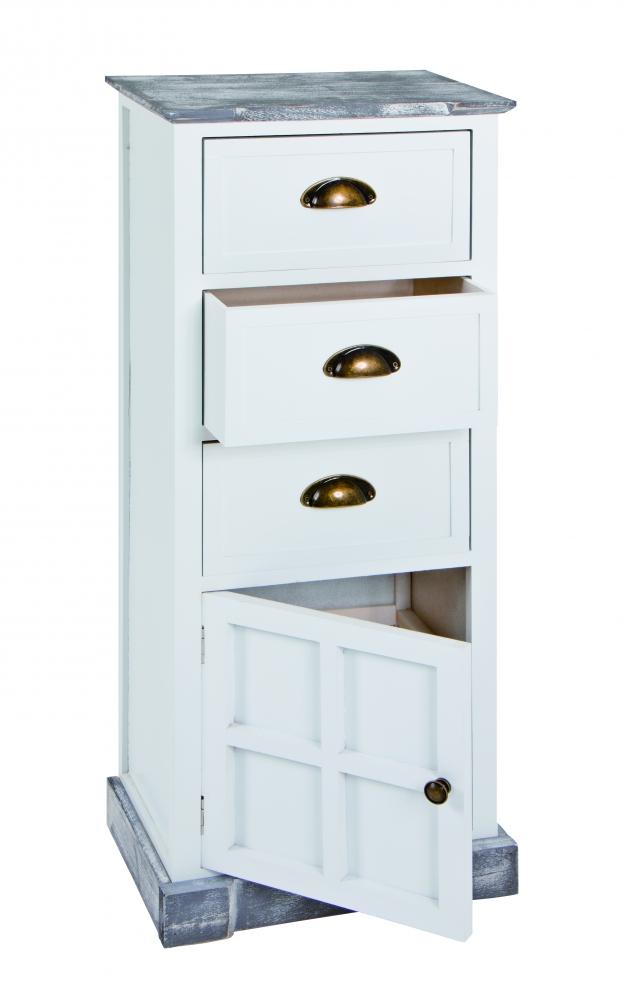Komoda Eddy se 3 zásuvkami, 94 cm, bílá