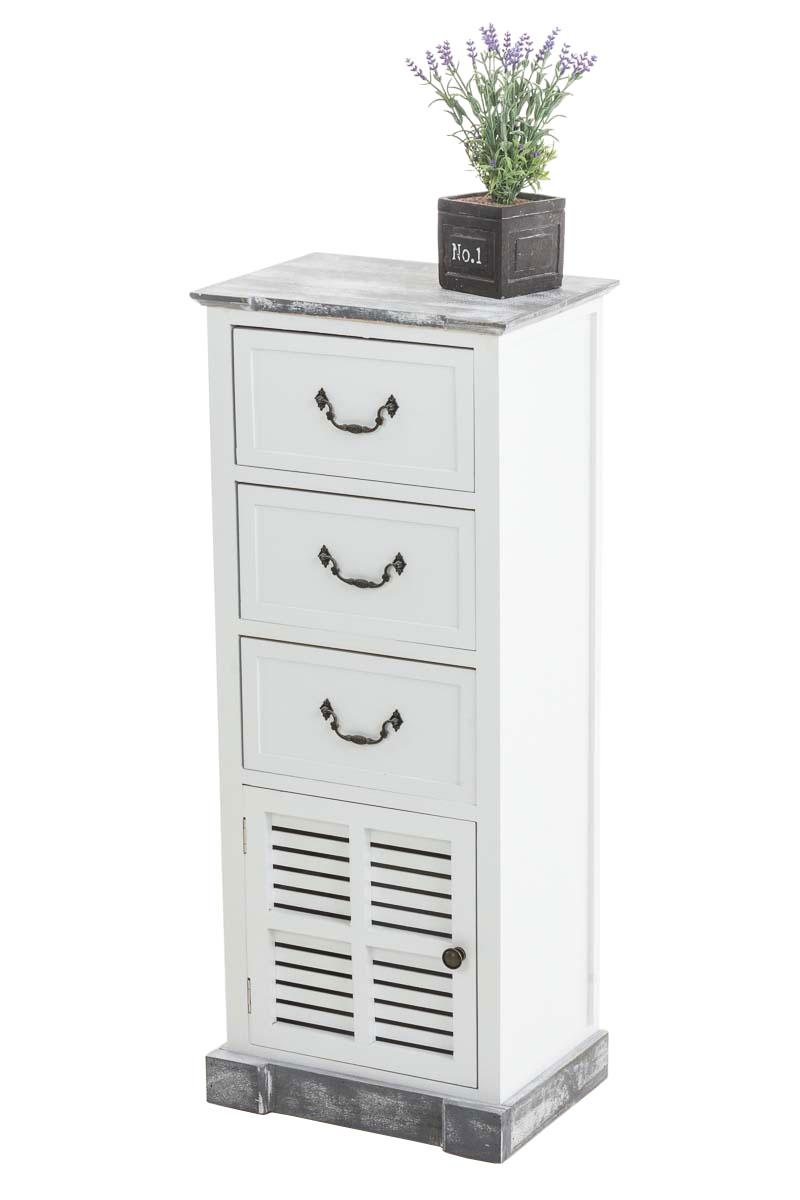 Komoda / kombinovaná skříň Pyran, 93,5 cm, bílá/šedá