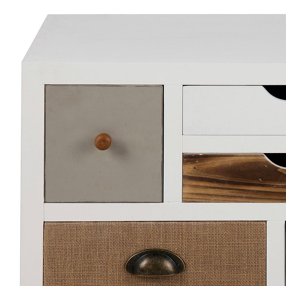 Komoda s 5 zásuvkami a dveřmi Thess, 81 cm