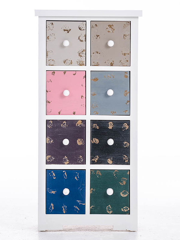 Komoda s 8 zásuvkami Bingo, 87 cm, viac farieb