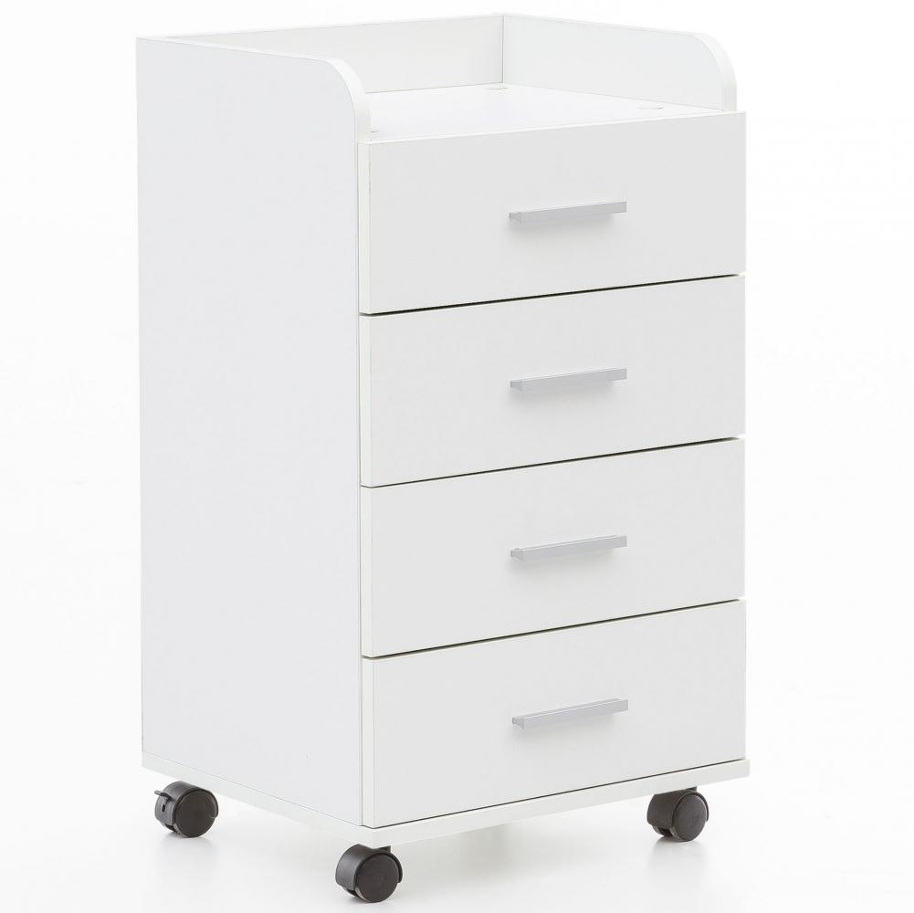 Komoda se 4 zásuvkami Ero, 70,5 cm, bílá