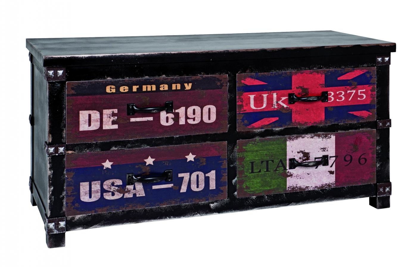 Komoda se 4 zásuvkami Talip, 50 cm, vícebarevná
