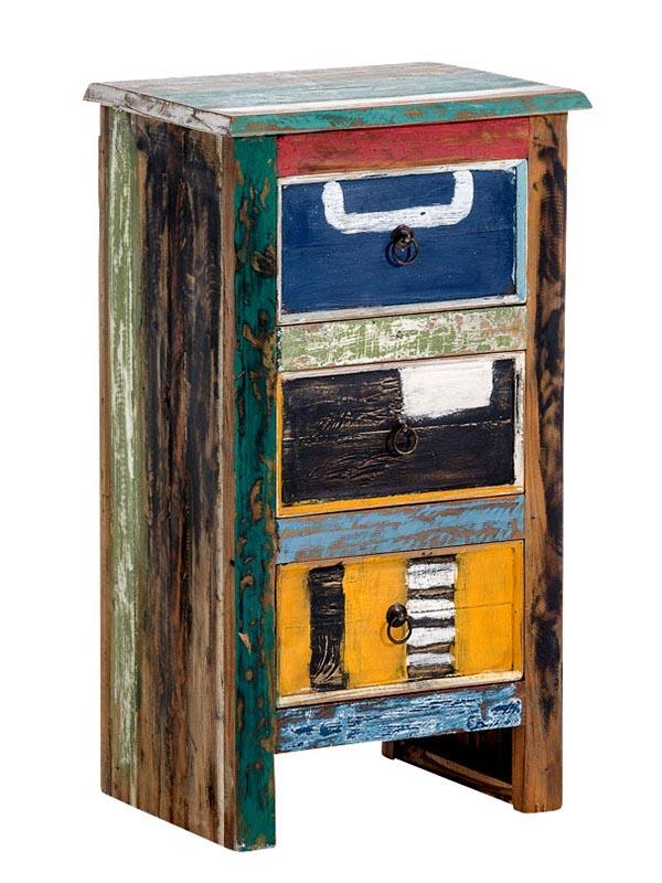 Komoda teaková s 3 zásuvkami Janne, 81 cm, viac farieb