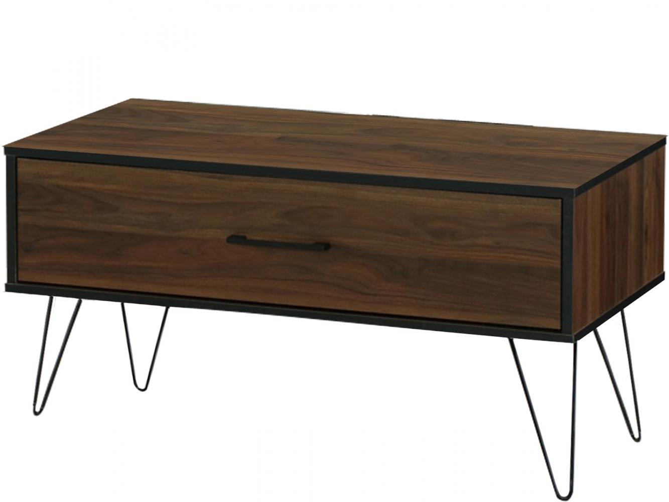 Konfereční stolek Shep, 90 cm, hnědá
