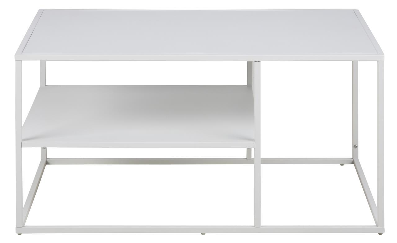 Konferenční kovový stolek Lyfte, 90 cm, bílá
