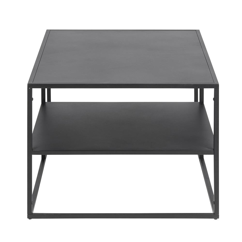 Konferenční kovový stolek Lyfte, 90 cm, černá