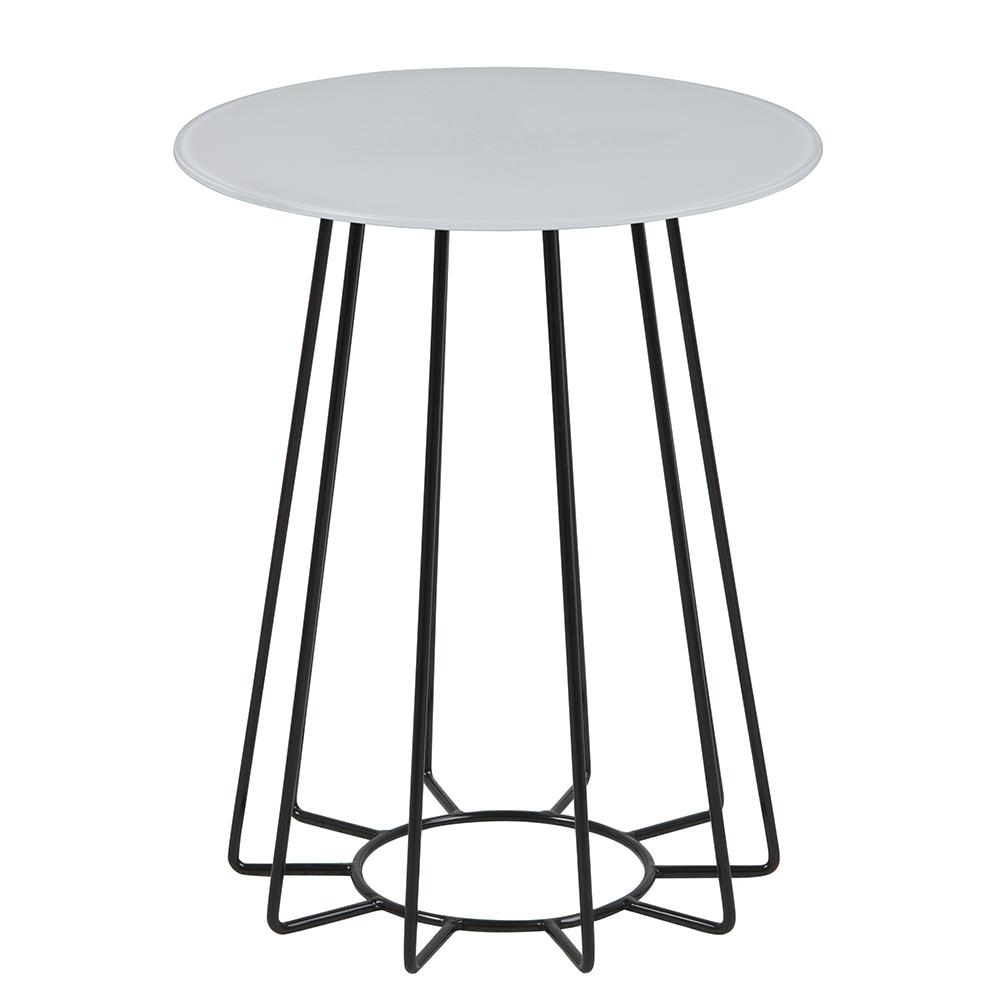 Konferenční / noční stolek Goldy, 50 cm, černá/bílá