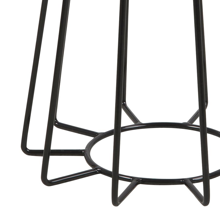 Konferenční / noční stolek Goldy, 50 cm, černá/bronz