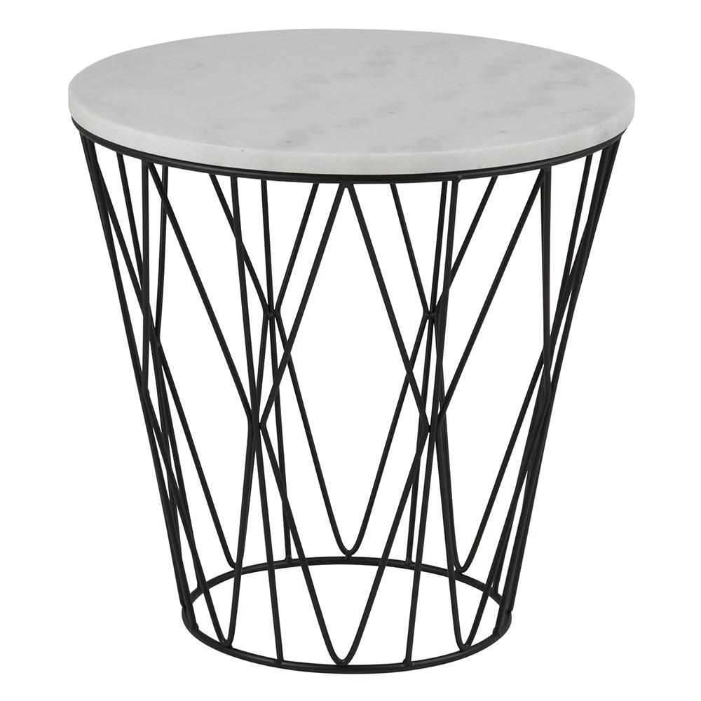 Konferenční / noční stolek s mramorovu deskou Gone, 50 cm