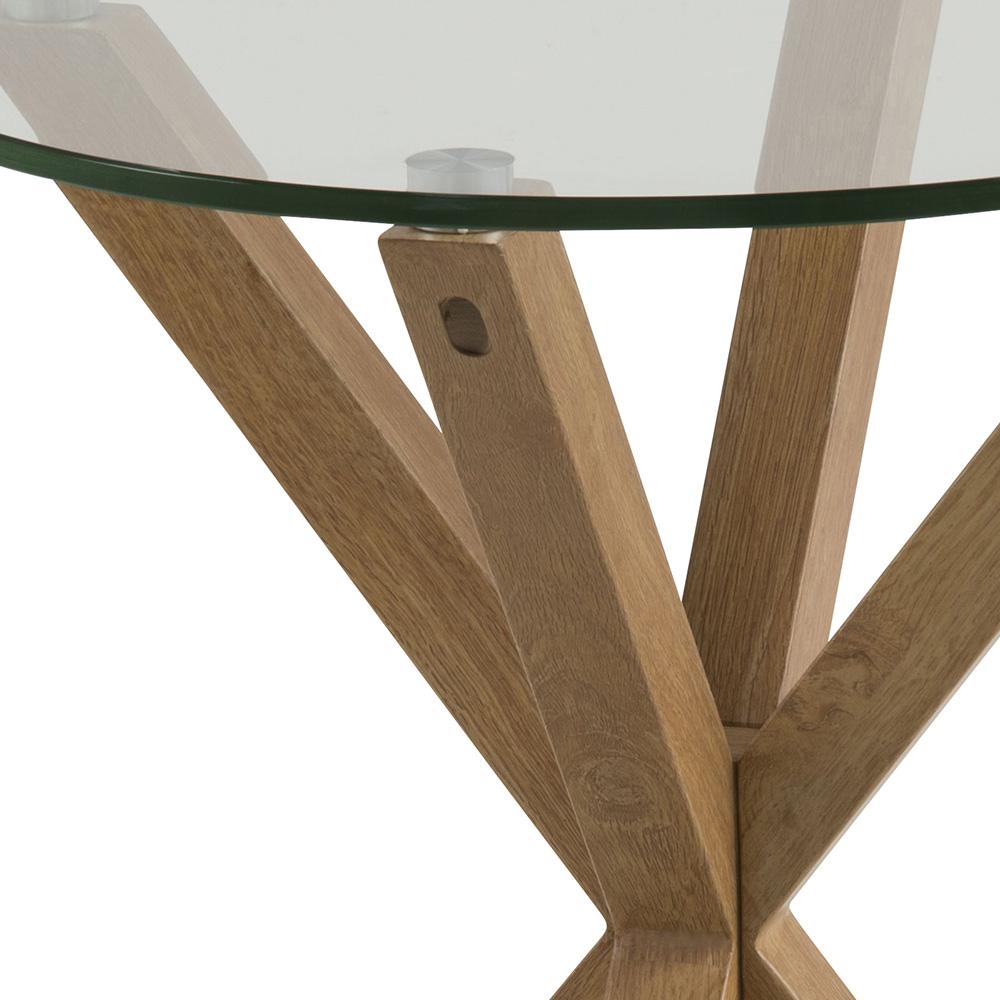 Konferenční / noční stolek Skyline, 50 cm, dub/čirá