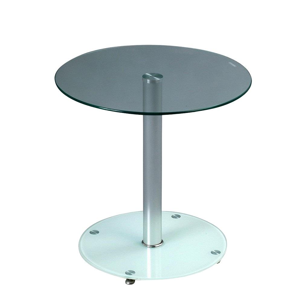 Konferenční / odkládací stolek Anna, 50 cm, čirá/bílá
