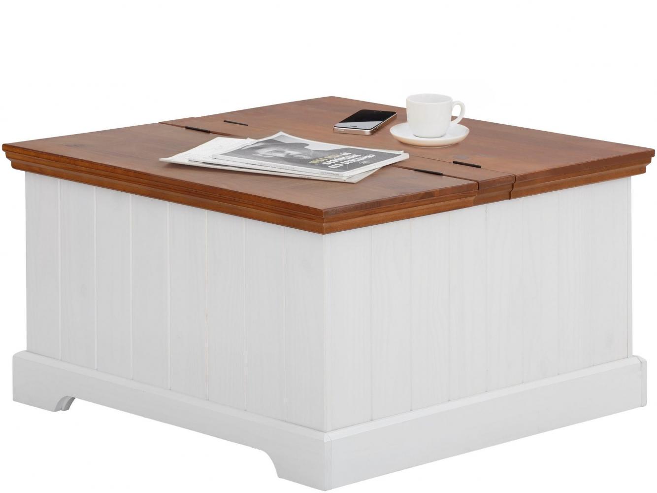Konferenční stolek Alia, 80 cm, bílá