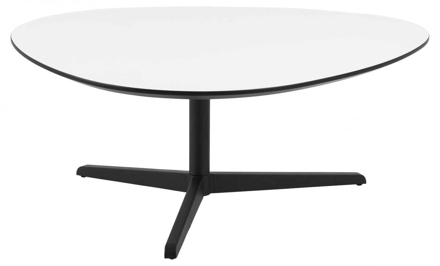 Konferenční stolek Baddy, 103 cm, bílá / černá