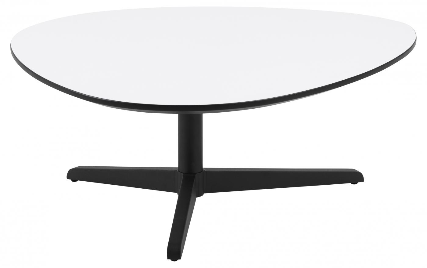 Konferenční stolek Baddy, 84 cm, bílá / černá