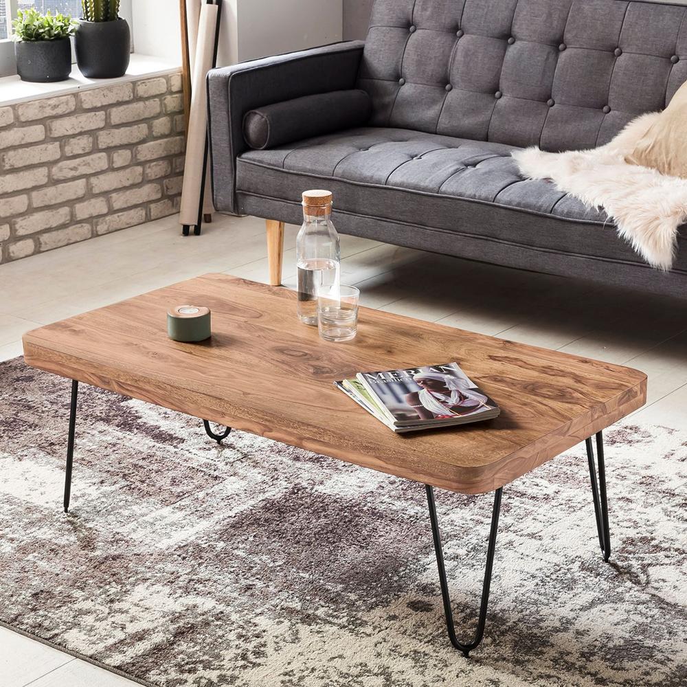 Konferenční stolek Bagli, 115 cm, masiv akát