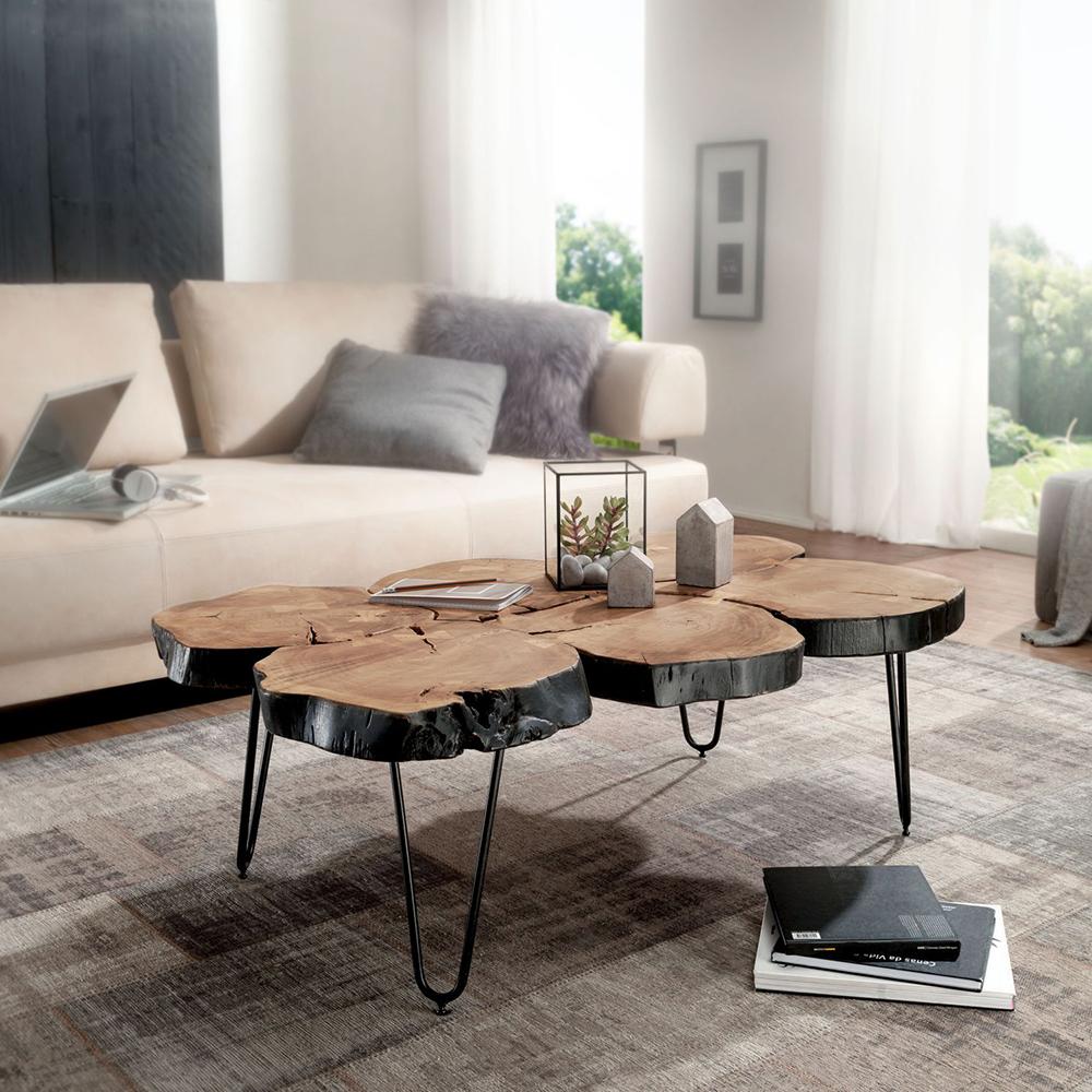 Konferenční stolek Bagli 2, 115 cm, masiv akát