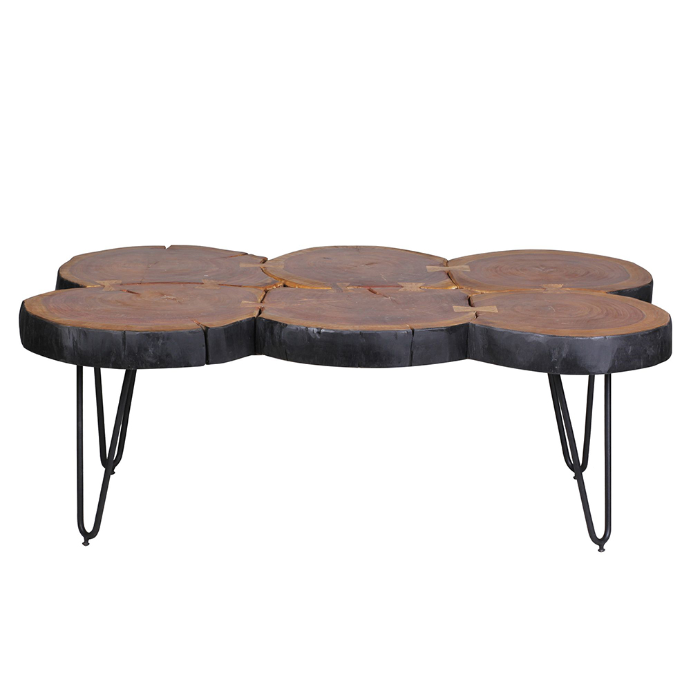 Konferenční stolek Bagli 2, 115 cm, masiv Sheesham