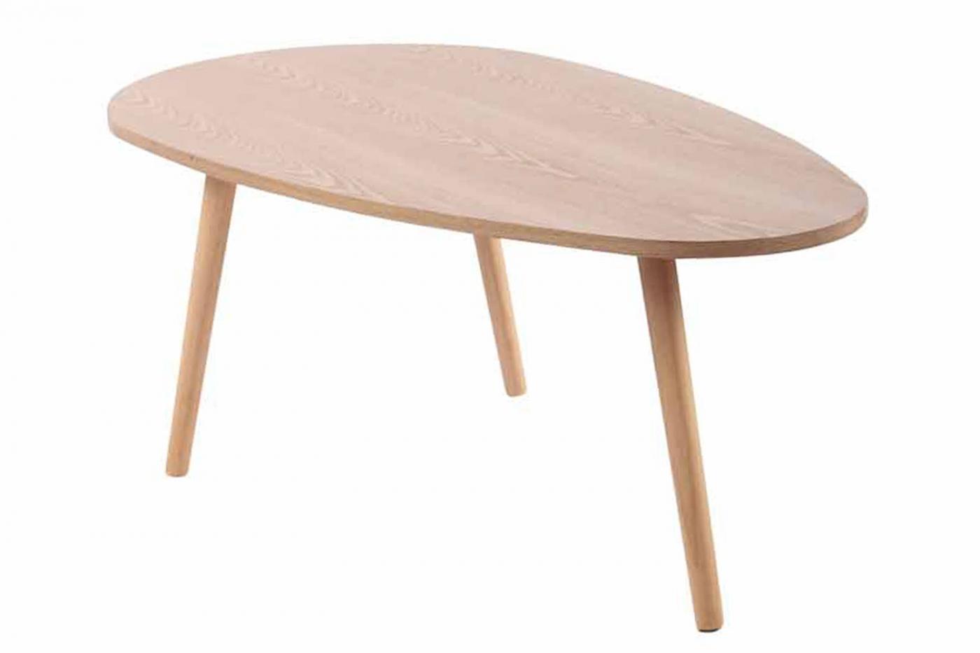 Konferenční stolek Barnie, 90 cm, přírodní dřevo
