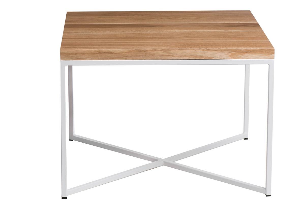 Konferenční stolek Besk, 45 cm, dub/bílá