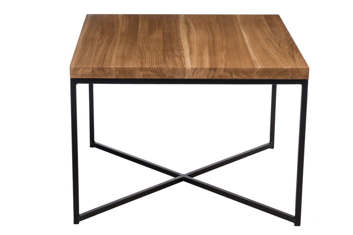 Konferenční stolek Besk, 60 cm, dub/černá