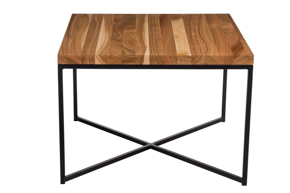 Konferenční stolek Besk, 60 cm, třešeň/černá